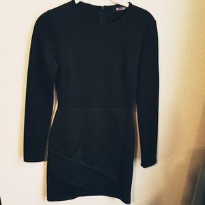 MISGUIDED Black Bodycon Long Sleeve Mini Dress